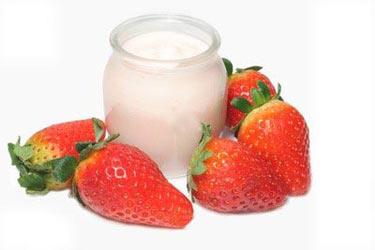 Masque aux fraises pour visage