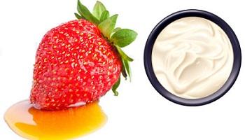 miel fraise creme sure